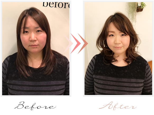 beforeafter,舩橋幸子似合わせカット,ヘアメイク,エニアグラム講座,生徒